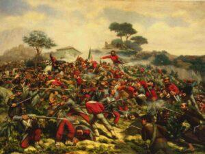 La bataille de Calatafimi le 15 mai 1860.