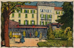 The hotel Baur au Lac on a postcard dating from 1910.