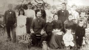 Die Familie Bertoni, vor 1900.