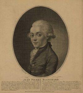 Portrait de Jean-Pierre Blanchard, 1785.
