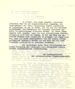 Letter to Ludwig, Duke of Bavaria, dated 6 October 1951.
