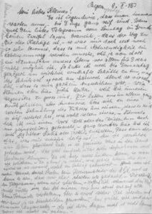 Des lettres rédigées par Hilde, telle que celle-ci datant de février 1945, témoignent du culte qu'elle vouait à l'idéologie nazie.