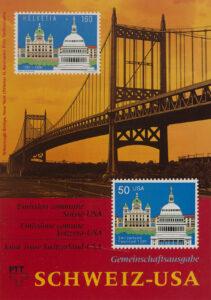 Zum 700-Jahr-Jubiläum der Schweizerischen Eidgenossenschaft 1991 gaben die US-amerikanische und die Schweizer Post eine Gemeinschaftsbriefmarke heraus. Die Marke zeigt das Capitol in Washington und das Bundeshaus in Bern.
