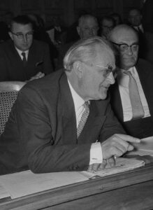 Walther Bringolf in the National Council, 1959.