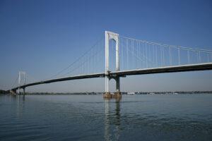 Bronx-Whitestone Bridge in New York, completed in 1939.