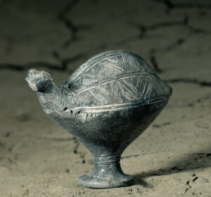 Bronze Age vessel in the shape of a bird.