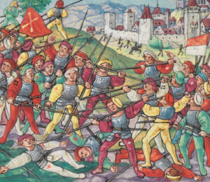 Troops of Lucerne, Bern and Solothurn beat an Austrian unit at Bruderholz near Basel.