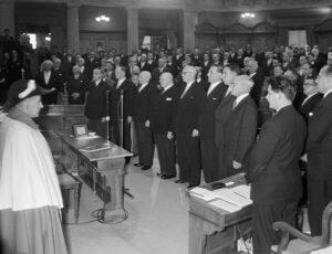 Élection de Hans-Peter Tschudi le 17 décembre 1959
