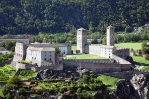 Comme son nom l'indique, le plus grand des trois châteaux de Bellinzone: Castelgrande.