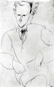 Portrait von Charles-Albert Cingria, gemalt von Amedeo Modigliani (1884 – 1920).
