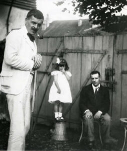 Charles-Ferdinand Ramuz, Hélène Cingria und Charles-Albert Cingria, um 1910.