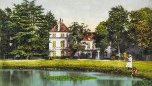 Schloss Coppet, Wohnsitz und Grabstätte von Suzanne Necker, ihrem Mann und ihrer Tochter, um 1920.