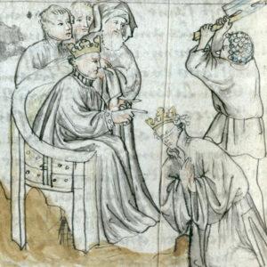 Chlodomer befiehlt die Hinrichtung von Sigismund.