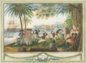 François Aimé Louis Dumoulin, Combats et Jeux des Nèg', 1788.