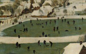Pieter Bruegel: Menschen am Eis.