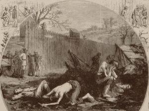 «La Souffrance à Andersonville». Gravure sur bois par Thomas Nast dans Harper's Weekly.