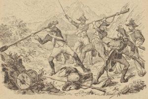 Der Abwehrkampf von Franz Waser, genannt Zingg, bei Kehrsiten, 1893.