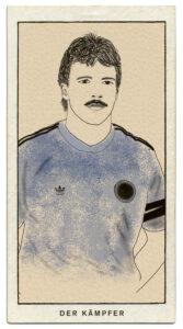 Illustration eines Fussballspielers.