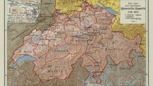 La Suisse à l'époque de la République helvétique en 1798.