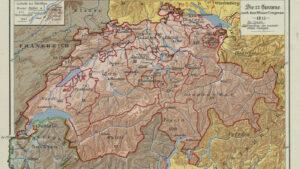 La Suisse après le Congrès de Vienne en 1815.