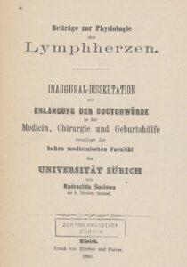 Dissertation von Nadeschda Suslowa, 1867.