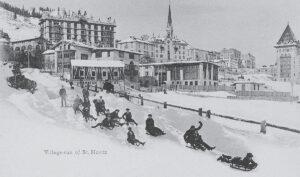 Village sleighing in St Moritz around 1910.