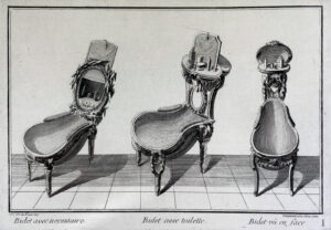 Three bidet designs by Jean Charles Delafosse, Paris, around 1770