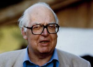 Porträt von Friedrich Dürrenmatt, Ende 1990.