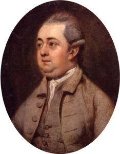 Edward Gibbon (1737-1794), gemalt von Henry Walton, um 1773.