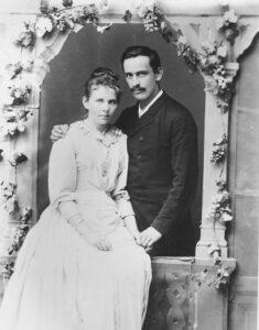 Hochzeitsbild von Lina und Eugen Huber 1876.