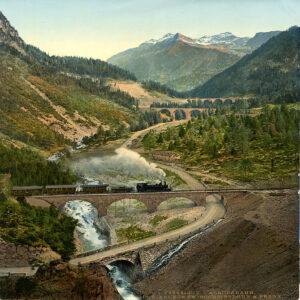 Auch die Eisenbahn war ein beliebtes Motiv.