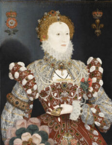 Queen Elizabeth I, by Nicholas Hilliard, circa 1573-1575.