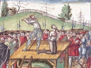 Exécution de Hans Waldmann comme illustré dans la Chronique de Silbereisen.