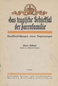 Erinnerungen von Pierre Gilliard, 1922.