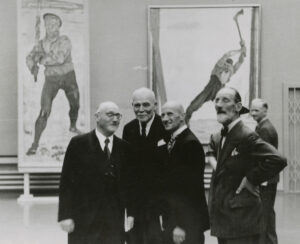 Philipp Etter with curator Paul Hilber and Art Commission members in Lucerne, 1943.
