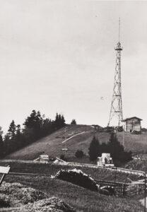 Erster UKW Sender auf dem St. Anton (AI) von 1952