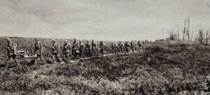 Soldaten im Ersten Weltkrieg in Frankreich.
