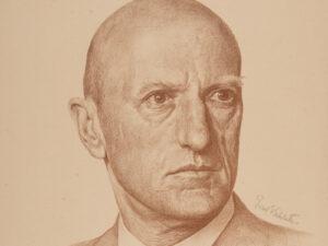 Philipp Etter, portrayed by Ernst Emil Schlatter, graphic print, 1943.