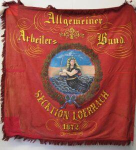 Parteifahne der SPD, die 1933 in die Schweiz gebracht wurde.