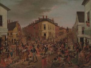 Die berüchtigte Kreuzung «Five Points» in Manhattan, 1827.