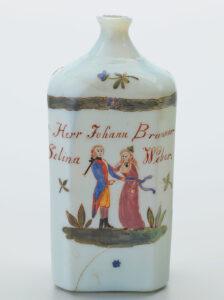 Milchglas bemalt, 1801, Prättigau.
