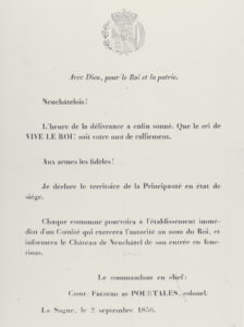 Leaflet put out by the Neuchâtel Royalists, 1856.