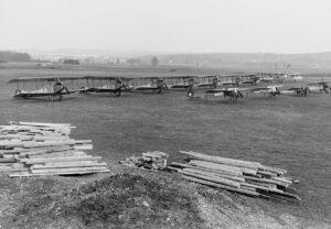 Der Flughafen Dübendorf Ende 1915.