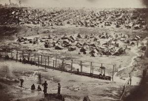 Photographie du camp d'Andersonville, 17 août 1864.