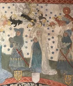 Detail of the memorial painting featuring Walter VII of Hohenklingen and his wife, Kunigunde von Fürstenberg.
