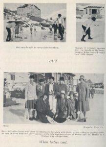 'When ladies curl': Fotoreportage über curlingspielende Touristinnen in Arthur Noel Mobbs' 'Curling in Switzerland' von 1929.