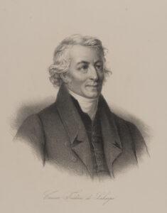 Herrenporträt von Frédéric César La Harpe, um 1870.