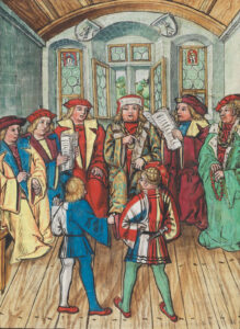 Negotiations for the Treaty of Basel, 1499.