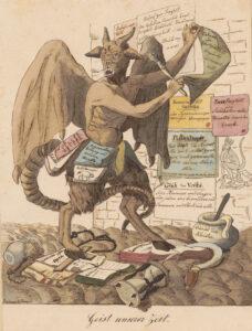 «Geist unserer Zeit» von David Hess aus dem Jahr 1831