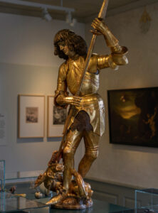 St George slaying the dragon, second half of the 15th century, Museum St. Urbanhof, Sursee (Canton of Lucerne).